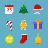 Christmas Flat Icons Collection. Collection of christmas flat icons in vector illustration vector illustration