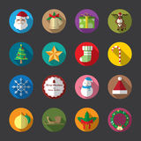 Christmas Flat Icons, Color. Vector and illustration Stock Illustration