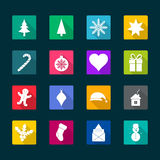 Christmas flat icons,  illustration Royalty Free Stock Images