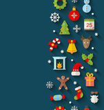 Christmas Flat Icons with Long Shadows Royalty Free Stock Photo