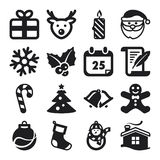 Christmas flat icons Stock Photos