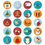 Christmas flat icons set. Vector illustration stock illustration
