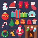 Christmas Flat icons Royalty Free Stock Photos