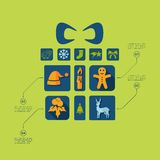 Christmas flat infographic. It is a beautiful Christmas flat infographic. Vector illustration Stock Photos