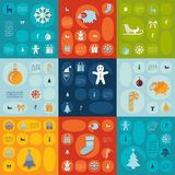 Christmas flat infographic Royalty Free Stock Photo