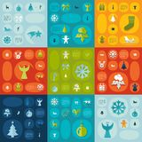 Christmas flat infographic Stock Images