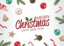 Merry Christmas and happy new year! Stock Photography