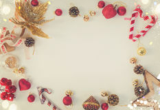 Christmas flat lay styled scene Stock Images
