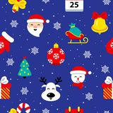 Christmas flat seamless pattern vector illustration