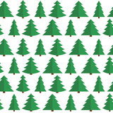 Christmas Flat Tree Seamless Pattern Background. Vector Illustration EPS10 Stock Photography