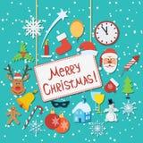 Christmas flat vector illustration Stock Photography