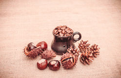 Christmas flavored coffee Stock Photos
