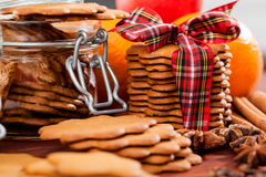 Christmas flavors - cookies Stock Images