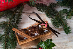 Christmas flavours for delicious pastries Stock Images
