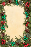 Christmas Flora and Baubles Royalty Free Stock Image