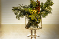 Christmas floral arrangement Stock Image