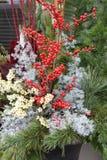 Christmas floral arrangement Stock Photography