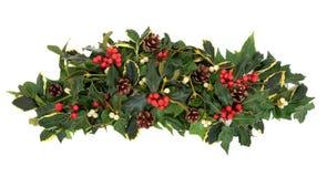 Christmas Floral Arrangement Stock Image