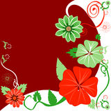 Christmas Floral Background. Vector Illustration of a Christmas background Floral template Royalty Free Stock Images