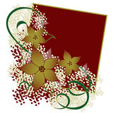 Christmas Floral Background Royalty Free Stock Photography