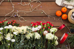Christmas floral background Royalty Free Stock Image