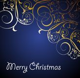 Christmas floral background with snowflakes Stock Images