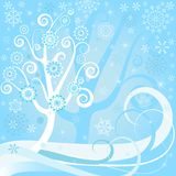 Christmas floral  background (vector) Stock Photos