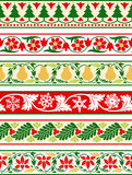 Christmas Floral Borders Royalty Free Stock Photos
