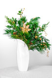 Christmas floral decoration of evergreen plants Stock Image