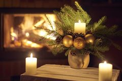 Christmas floral decoration. royalty free stock photos