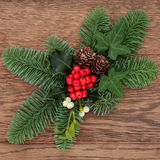 Christmas Floral Decoration Stock Photo