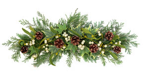 Christmas Floral Display Stock Photo