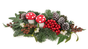 Christmas Floral Display Royalty Free Stock Photo