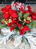 Christmas floral display Stock Images