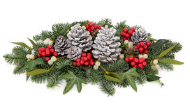 Christmas Floral Display Stock Photos