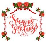 Christmas floral frame Stock Photo