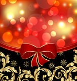 Christmas floral ornamental decoration Stock Image