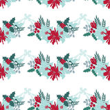 Christmas floral seamless pattern Stock Photography