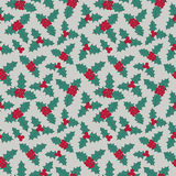Christmas floral seamless pattern Stock Images