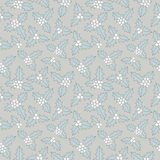 Christmas floral seamless pattern Royalty Free Stock Image