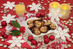 Christmas Florentine Biscuits Royalty Free Stock Image