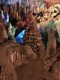 Christmas at Florida Caverns. Christmas tree Stalagmite at Florida Caverns State Park Royalty Free Stock Images