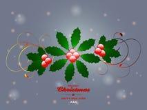 Christmas flourish over glowing background. Christmas Flourish and Merry Christmas Text Over Glowing Background royalty free illustration