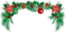 Christmas flower. Garland -  illustration Royalty Free Stock Photo