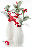 Christmas flower arrangement Royalty Free Stock Images
