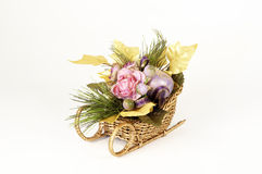 Christmas Flower Arrangement Stock Image