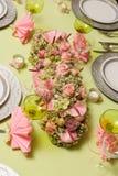 Christmas flower arrangement Stock Images