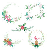 Christmas flower bouquets and frames Stock Photography