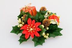 Christmas flower decoration Royalty Free Stock Image