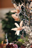 Christmas flower decoration stock images